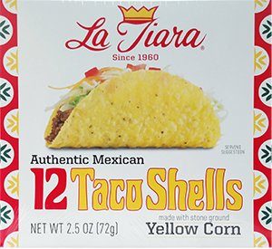 La Tiara Taco Shells, 12-count Box (Two Boxes), 2.5 oz