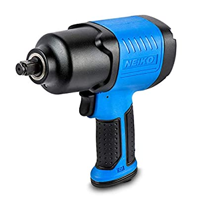 Neiko 30128A Composite Air Impact Wrench, 1/2-Inch Square Drive | Pneumatic Compressor Powered | Super Duty