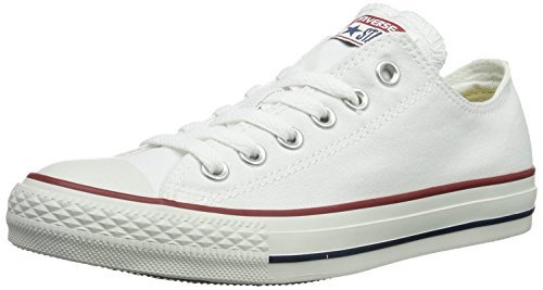 - Converse Unisex Chuck Taylor All Star Low Top Optical White Sneakers - 9.5 D(M)