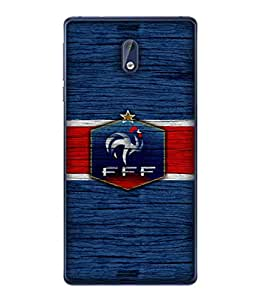 ColorKing Football France 16 Blue shell case cover for Nokia 3