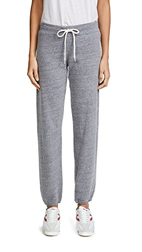 Womens Vintage Fleece Pants - Monrow Women's Vintage Sweatpants, Heather Grey, X-Small