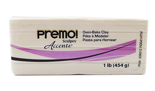 Sculpey Premo Art Clay Accents, Pearl