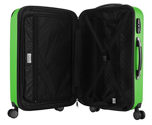 HAUPTSTADTKOFFER - Spree - 2er Koffer-Set Hartschale matt, TSA, 65 cm, 82 Liter, Gelb Apfelgrün