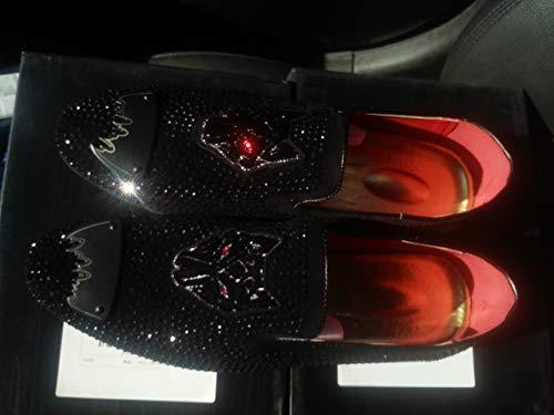 E Mocasines Formal Ropa negro Boda Evening De Remacheto Diseño Brillantes Zapatos patrón Shimmer lentejuelas Showtime Hombre Tiger Cocodrilo Fiestas Mujere Cuero cuentas Head Club Metal xqSnnRgw