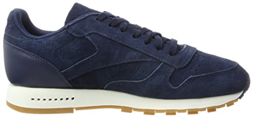 Navy Homme chalk Leather collegiate Classic Bleu gum Reebok Baskets Sg RTZngqIw4