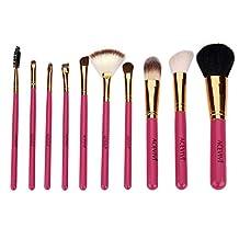 ACEVIVI Professional Makeup 10 Pcs Cosmetics Brush Set with Synthetic Leather Case Black