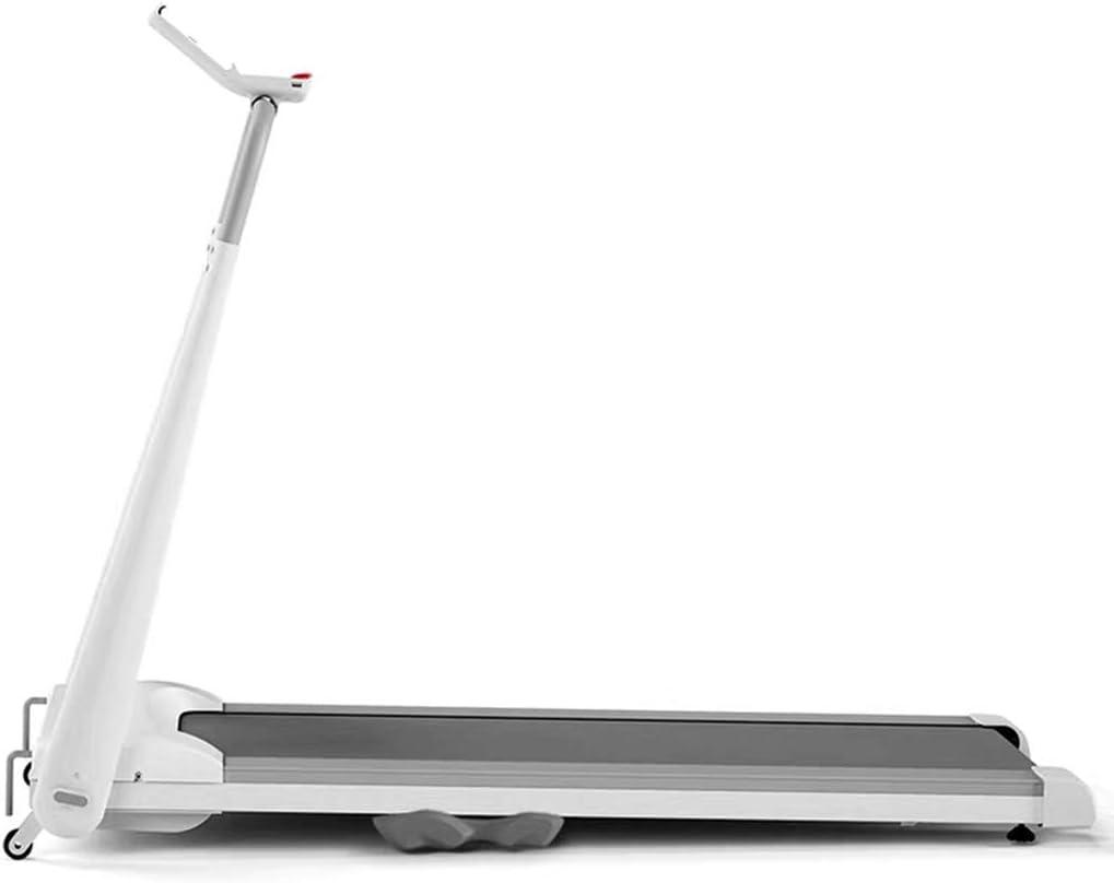 TOE Treadmill for Home, Mini, Foldable, Installation-Free Treadmill Designed for Small Apartment (Color : White)