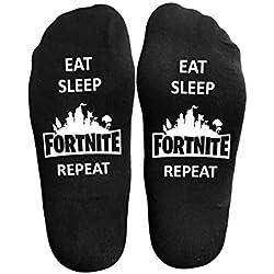 Men's Women's Cotton Novelty Socks Great Christmas Gift for Fortnite Gamer Lovers