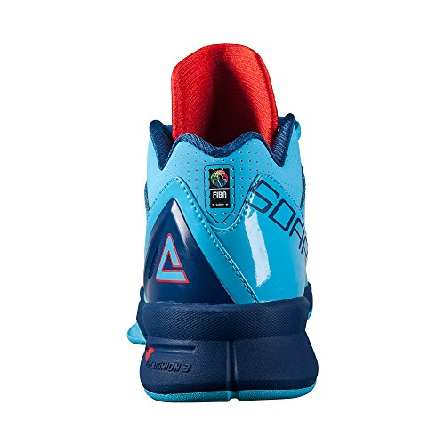 Peak Mens Speed Eagle Low-Cut Basketball Shoes Aquarius Blue PUYT6Y