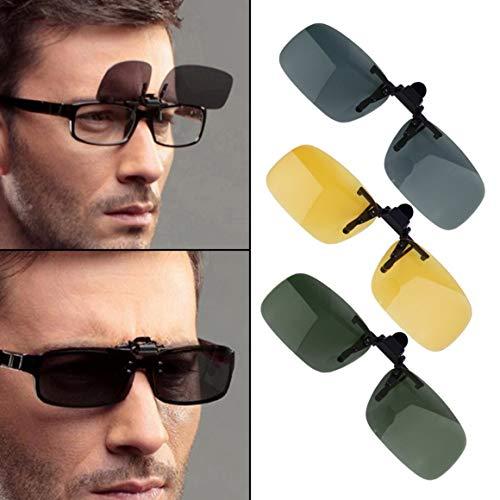 abatibles Unisex sol con on Clip 400 Cool de para Funnyrunstore lentes Color Verde lentes UV Anti y Clip Eyewear Driving gris gafas Negruzco mujeres S en Vision hombres Night Tamaño negruzco; xUw8Iq0IvH