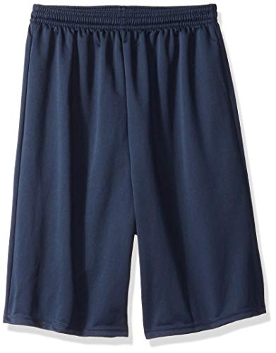 """Alleson Ahtletic Youth Multi Sport 7"""" Tech Shorts, Navy, Large"""
