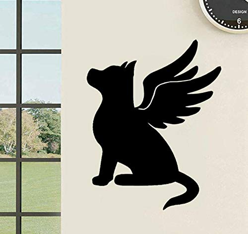 Wall Sticker Cartoon Dog Puppy Memory Wings PVC s Decal for Bedroom Decor 41x52cm ()