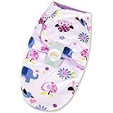 Baby Bucket Baby Swaddle Wrap Soft Envelope For Newborn (White & Purple)
