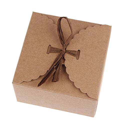 Box Wedding Favor - 12pcs Set Retro Mini Kraft Paper Box Diy Wedding Gift Favor Boxes Party Candy Small Single Cake - Box Box Candy Favor Ribbon Box Bags Sale Gift Gift Kraft Paper Box Shape