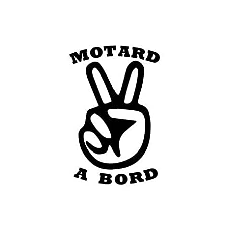Autocollant Motard à Bord moto sticker - noir, 4 cm EUSKAL HERRIA EH