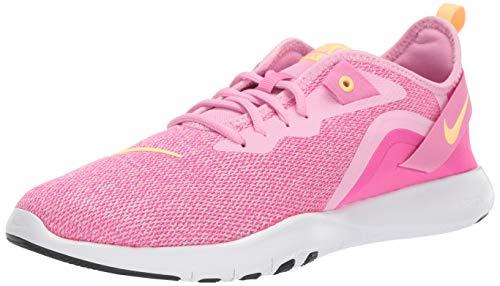 Nike Women's Flex Trainer 9 Sneaker, Pink Rise/Melon Tint - Laser Fuchsia, 10 Regular US (Nike Cross Trainers Women Pink)