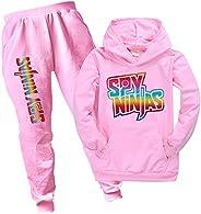 Coolchild Spy Ninjas Hoodie and Pants Set,Kids Pullover Sweatshirt Hooded Long Sleeve Outfits