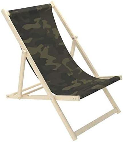 Novamat – Tumbona de jardín de madera, plegable, tumbona para relajarse, silla para la playa, Colores de camuflaje.: Amazon.es: Hogar