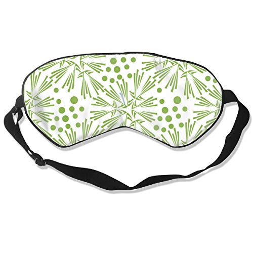 (GRFER Greenery Dandelion Seamless Pattern Wallpaper Vector Image Best Sleep Mask Travel, Nap, Adjustable Belt Eye Mask for Men and Women)