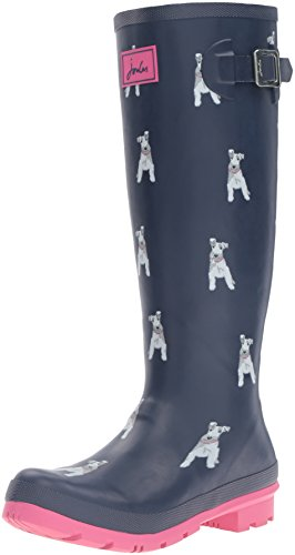 Joules Womens Welly Print Rain Boot Chip Dog xnXaX