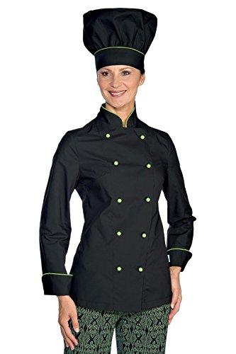 Bottoni Lady Chef Nero S Bianco Gr Tessuto Lunga Cotone Antipanico Giacca Manica Mela 100 m² verde 190 Isacco zRZqxEH5nx