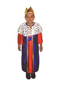 EL CARNAVAL Disfraz Rey Baltasar Talla de 4 a 6 años - Rey Mago ...