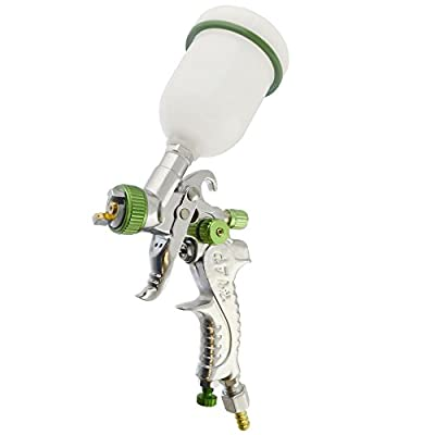 Green Professional Mini HVLP Spray Gun Gravity Feed 1.00mm Touch Up AT524
