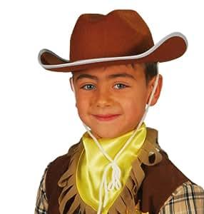 Guirca - Sombrero de vaquero infantil, color marrón (13561)