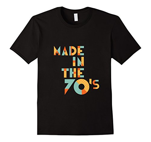 [Men's Made In The 70's - Funny 1970 70s Retro Age T-Shirt 2XL Black] (70s Era Clothing)