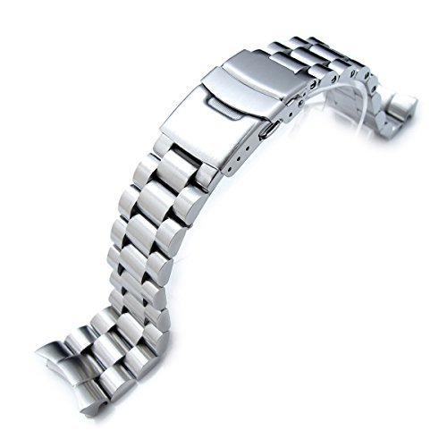 - 22mm Endmill watch band for SEIKO Diver SKX007, Brushed Solid Stainless Steel