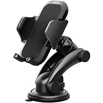 Mpow Car Mount Holder, Universal Car Windshield / Dashboard Phone Mount Holder for iPhone 7/7P/6s/6P/5S, Galaxy S5/S6/S7/S8, Google, LG, Huawei and More