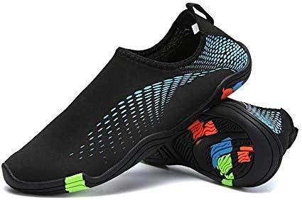 アウトドアワタリ潜入のぞき見の靴新しい女性と男性の弾性生地天然ゴム素材ビーチカジュアルシューズ通気性軽量ウィッキングシューズセット ポータブル (色 : Blue, Size : US7)