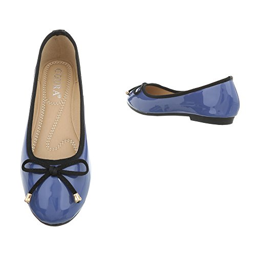 Para Azul Ancho Tacón Ital 9740 Bailarinas Mujer Design Zapatos Clásicas Bailarinas Zn7qzUCE