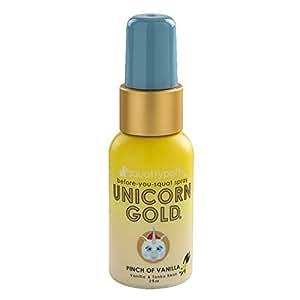 2 FL OZ. Squatty Potty Unicorn Gold Toilet Spray, Pinch Of Vanilla