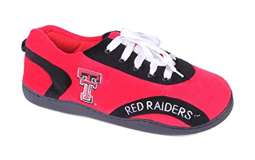 (TTU05-3 - Texas Tech Red Raiders - Large - Happy Feet Mens and Womens All Around Slippers)