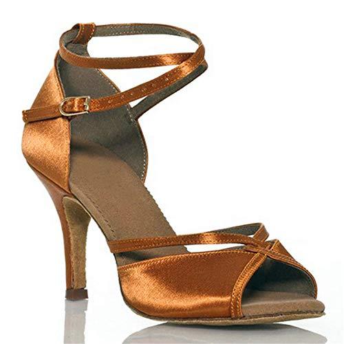 sala Scarpe da latino raso scarpe quadrato da morbido ballo da ballo ballo scarpe fondo da ShangYi scarpe ballo Marrone ballo da ballo scarpe da PtUBFqUwd
