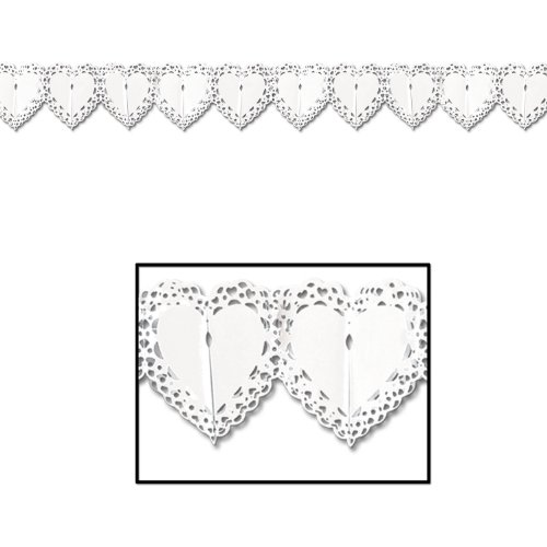 Lace Heart Garland Party Accessory (1 count) (1/Pkg) -