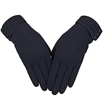 Knolee Women's Screen Gloves Warm Lined Thick Touch Warmer