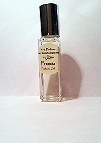 Freesia Perfume Oil - Alcohol Free - 1/3 oz Roll On White Floral ()