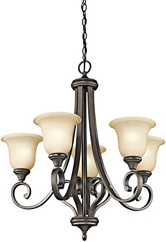 Five Light Bronze Up Chandelier