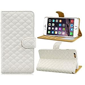 DD 5.5'' Faux Leather Flip Case with Mount Stand and Credit Card Slots for iPhone 6 Plus(Assorted Colors) , White
