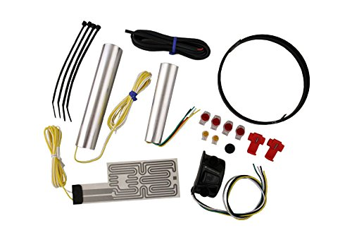Heat Demon 211056 Black Left Mount Motorcycle Grip Heater Kit by Heat Demon