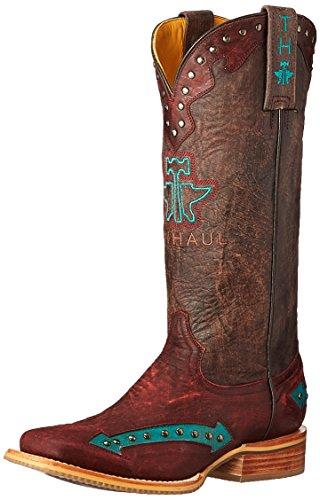 Tin Haul Shoes Women's Arrowhead Work Boot - Red - 9 C/D US