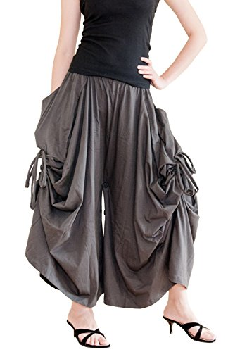 BohoHill Convertible Maxi Skirt Pants Cotton Jersey Versatile Skirt  Charcoal (One Size) by BohoHill (Image #1)