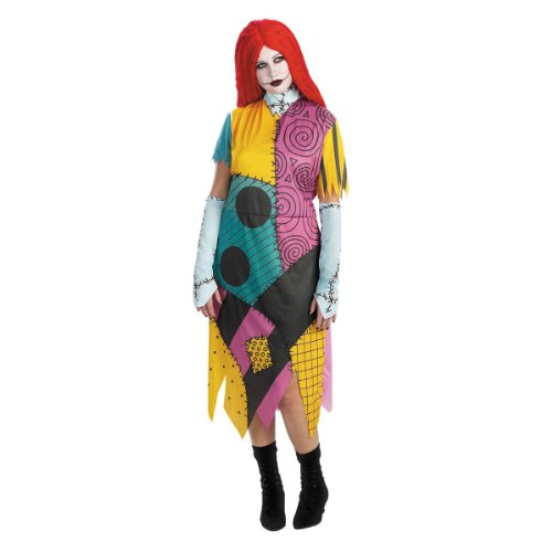 [Disguise Women's Disney Nightmare Before Christmas Sally Classic Costume, Yellow/Red/Black/Green,] (Used Plus Size Halloween Costumes)