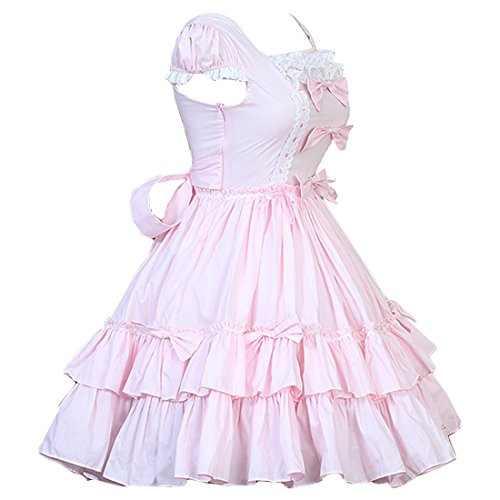 Cocktailkleid Teeparty Kurzarmes Kleid Traditionelles Kleid Lolita Kleid Kleid Damen Partiss Elegantes Rosa 1xtHqwwn