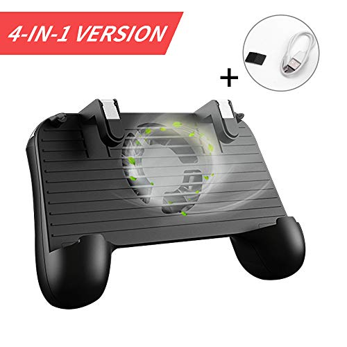 BAVST Mobile Game Controller for PUBG 4-in-1 Upgrade Version Gamepad Shoot and Aim Trigger Phone...