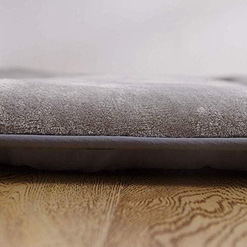 MWPO Couvre-Matelas matelassé Doux surmatelas Confort pour lit Simple Double avec Sangles d'angle élastiques-Gris 150x200cm (59x79inch)