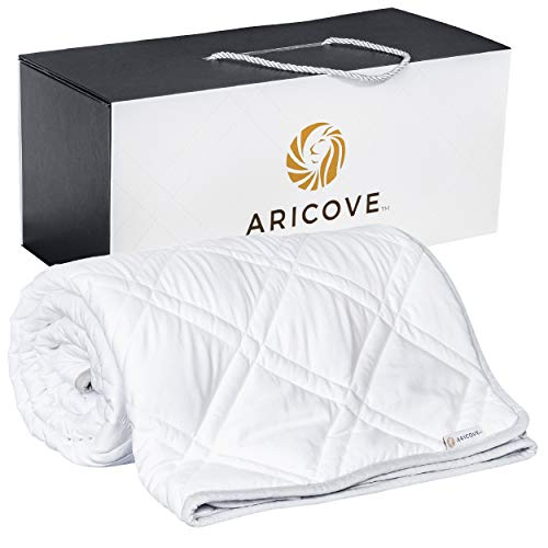 Aricove Cooling Weighted Blanket Adult | Made of Premium Bamboo Viscose | 48x72 | 15 lbs or 20 lbs | Weighted Blanket Cooling for Sleeping | Bamboo Blankets