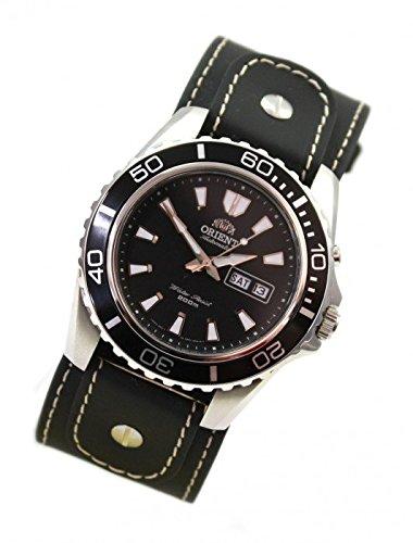 Orient Buceo reloj negro automático para hombre reloj WCC piel Base banda CEM75001B: Amazon.es: Relojes